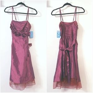 NWT L juniors? Burgundy Prom party formal dress
